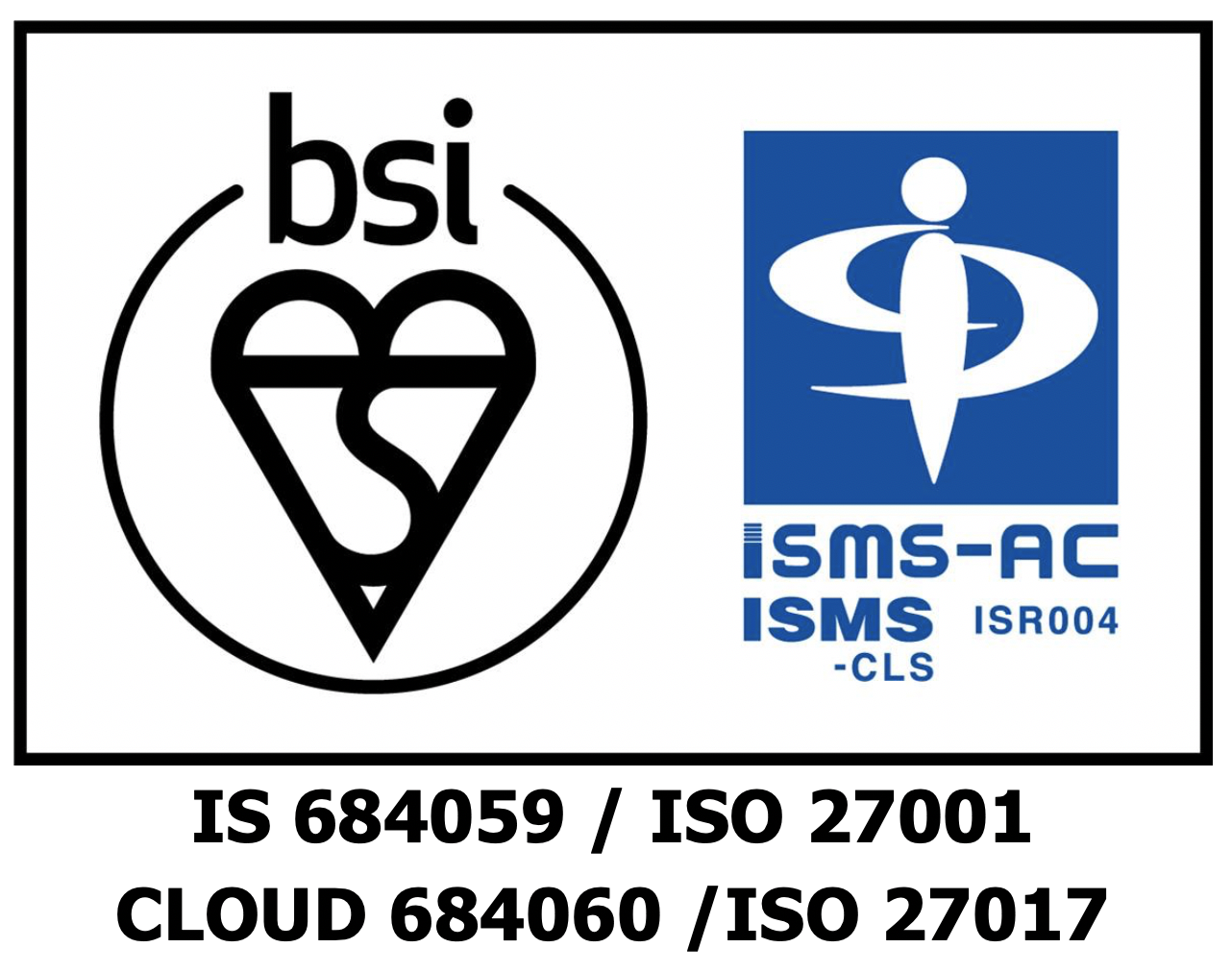 CLOUD 684060 / ISO 27017; IS 684059/ ISO 27001